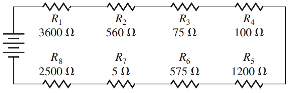 Chapter 1.1, Problem 14E, Find the total resistance in each series circuit: