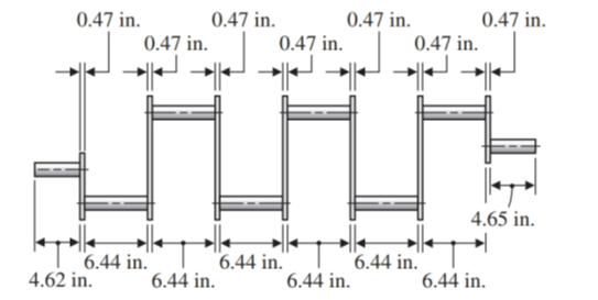 Chapter 1.12, Problem 41E, Find the total length of the crankshaft shown in Illustration 4. ILLUSTRATION 4