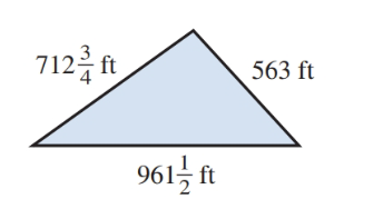 Chapter 1.7, Problem 47E, Find the perimeter of the triangular plot in Illustration 1. ILLUSTRATION 1