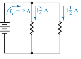 Chapter 1.7, Problem 65E, Find the total current in each parallel circuit: