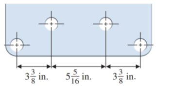 Chapter 1.7, Problem 70E, Find the distance between the centers of the two end-holes of the plate in Illustration 4.