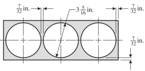 Chapter 1.7, Problem 81E, See Illustration 12. What width and length steel strip is needed in order to drill three holes of