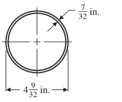 Chapter 1.8, Problem 47E, The outside diameter (OD) a pipe 4932 in. The walls are 732 in. thick. Find the inside diameter.