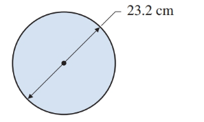 Chapter 12, Problem 19R, Find the area and circumference of the circle in Illustration 4. ILLUSTRATION 4