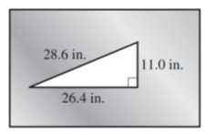 Chapter 12.3, Problem 43E, A steel plate is punched with a triangular hole as shown in Illustration 12. Find the area of the