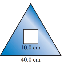 Chapter 12.3, Problem 44E, A square hole is cut from the equilateral triangle in Illustration 13. Find the area remaining in