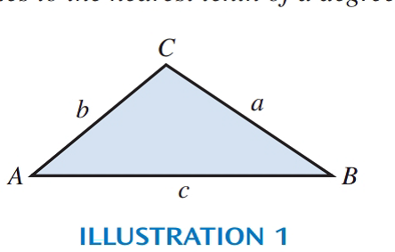 Chapter 14, Problem 17R, Solve each triangle using the labels as shown in Illustration 1 (round lengths of sides to three