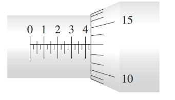 Chapter 4, Problem 20R, Read the measurement shown on the U.S. micrometer in Illustration 3. ILLUSTRATION 3