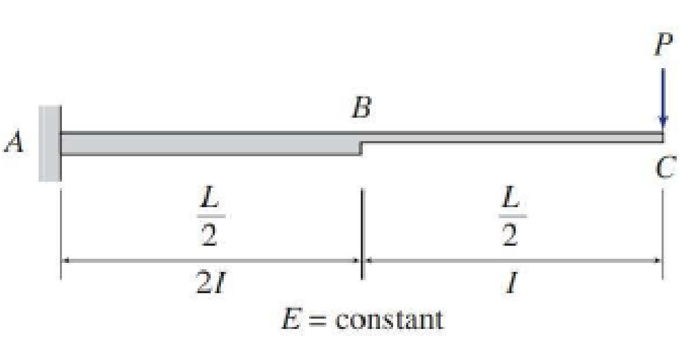 Chapter 6, Problem 14P, Use the moment-area method to determine the slopes and deflections at points Band C of the beam