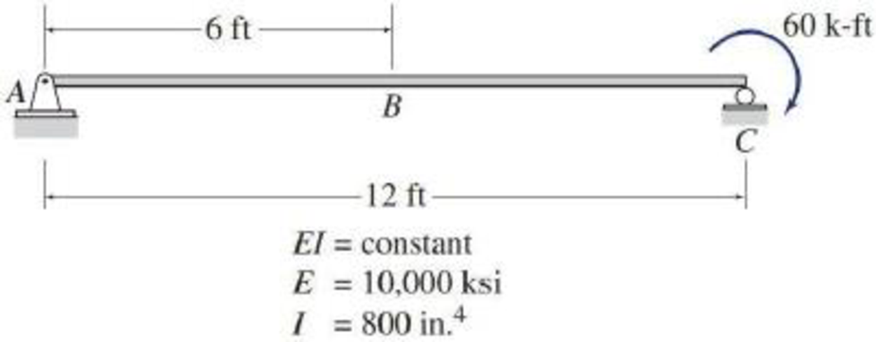Chapter 6, Problem 8P, 6.7 and 6.8 Determine the slope and deflection at point B of the beam shown by the direct