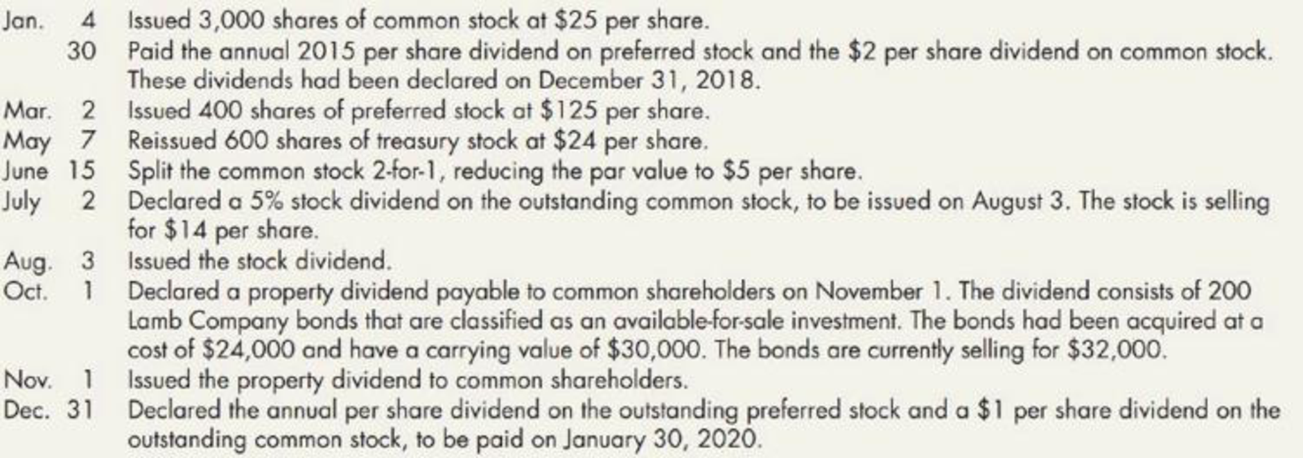 Chapter 16, Problem 14P, Gray Company lists the following shareholders equity items on its December 31, 2018, balance sheet: , example  2