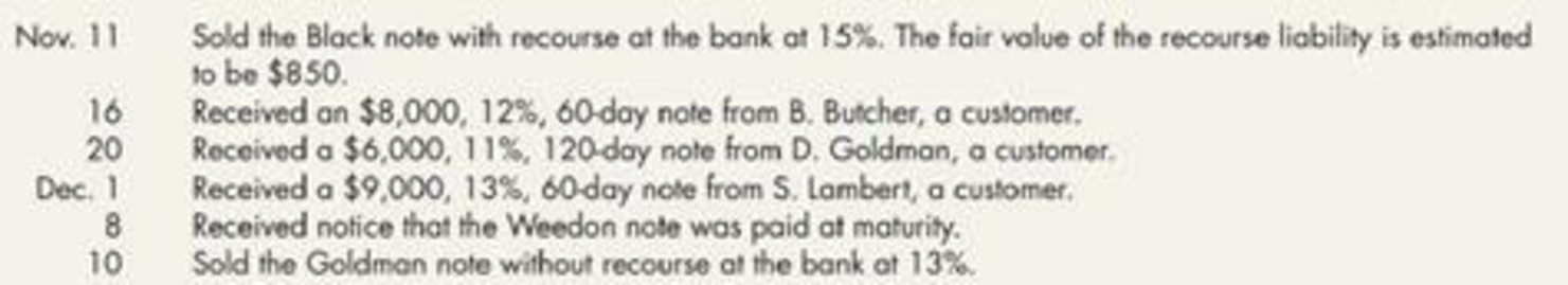 Chapter 6, Problem 13P, Notes Receivable Transactions The following notes receivable transactions occurred for Harris , example  2