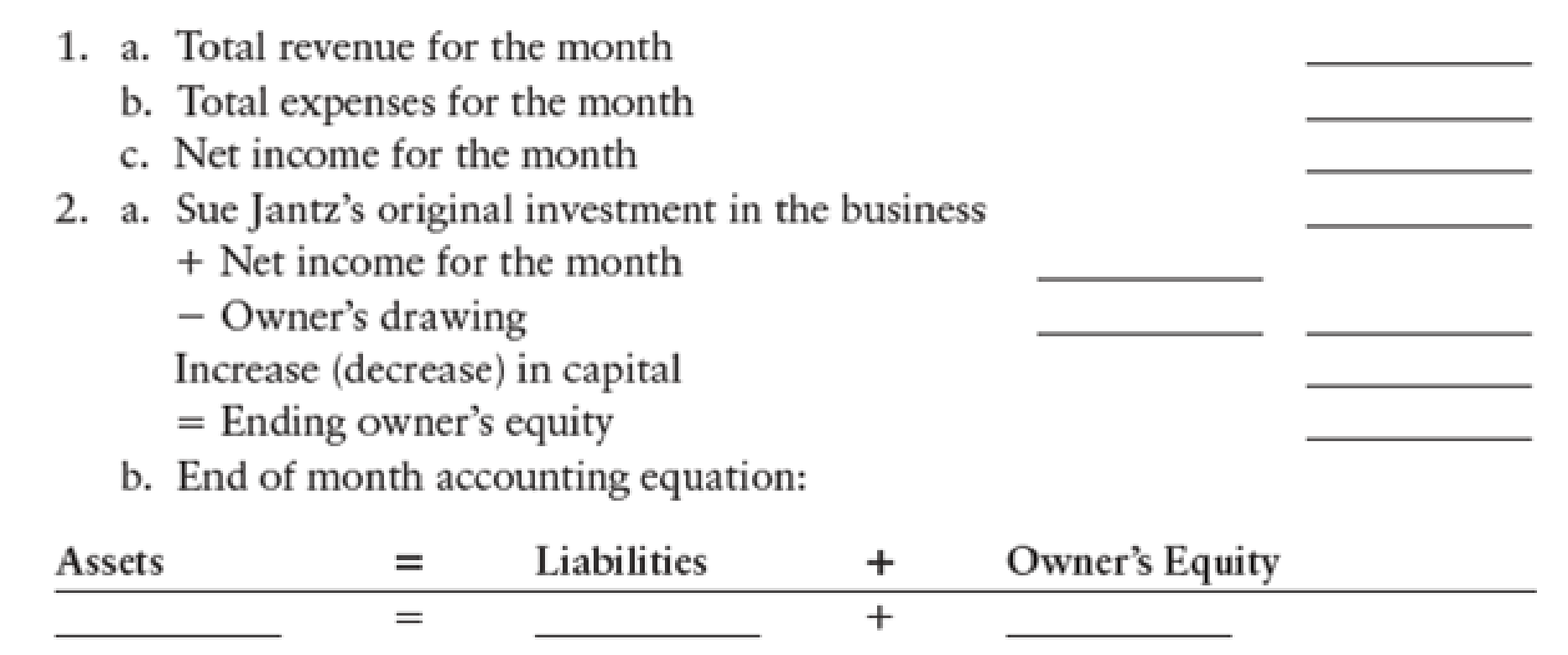 Chapter 3, Problem 14SPB, NET INCOME AND CHANGE IN OWNERS EQUITY Refer to the trial balance of Jantz Plumbing Service in