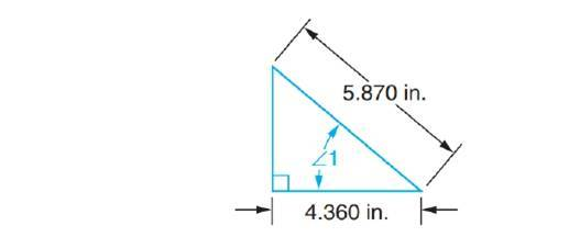 Chapter 68, Problem 9A, Solve the following exercises. Compute angles to the nearer minute in triangles with customary unit