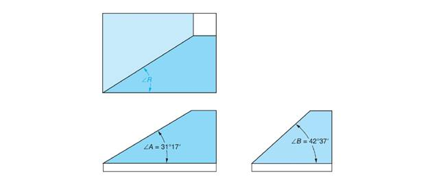 Chapter 84, Problem 4A, The top, front, and right side views of a part are shown in the figure. The angular surfaces are to