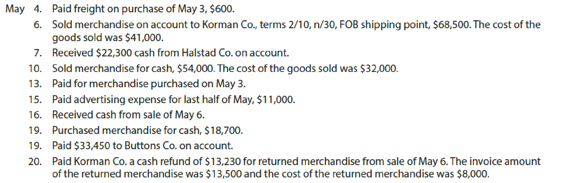 Chapter 5, Problem 1COMP, Palisade Creek Co. is a retail business that uses the perpetual inventory system. The account , example  3