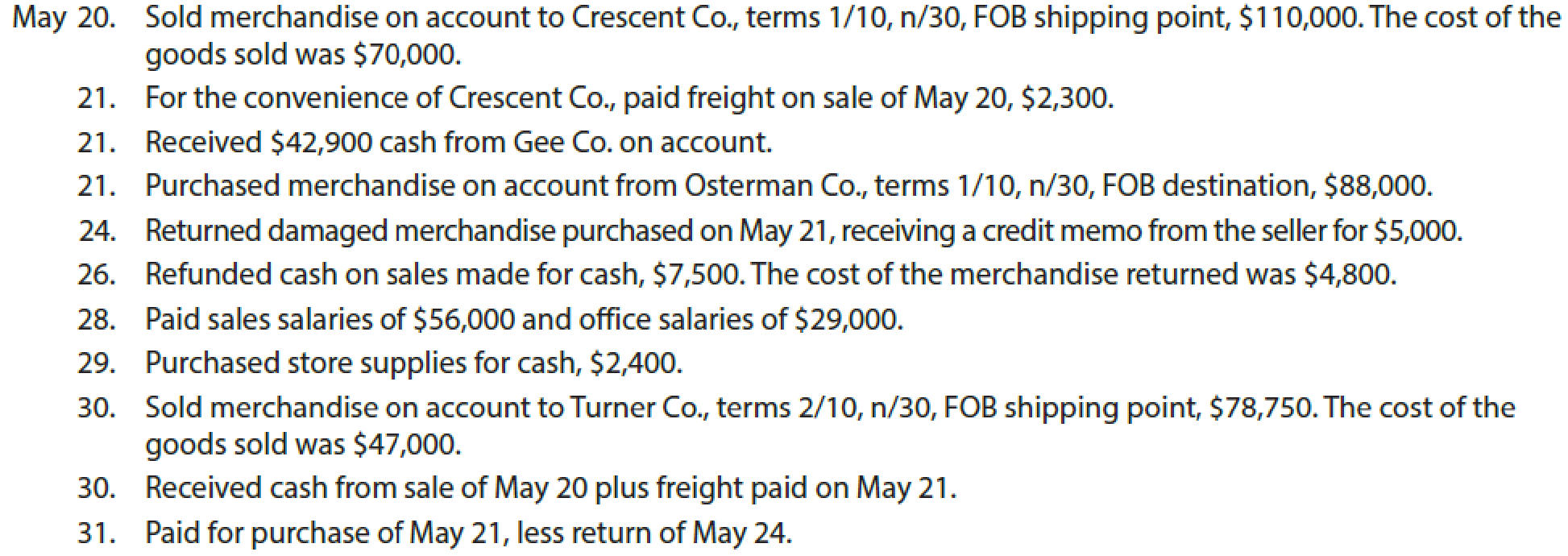 Chapter 5, Problem 1COMP, Palisade Creek Co. is a retail business that uses the perpetual inventory system. The account , example  4
