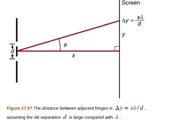 Chapter 27, Problem 39PE, The analysis shown in the figure below also applies to diffraction gratings with lines separated by