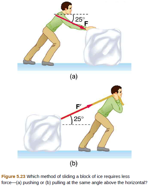 Chapter 5, Problem 19PE, Repeat Exercise 5.18 with the contestant pulling the block of ice with a rope over his shoulder at